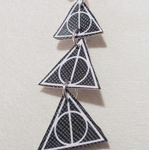 Handmade HP Deathly Hallows Earrings